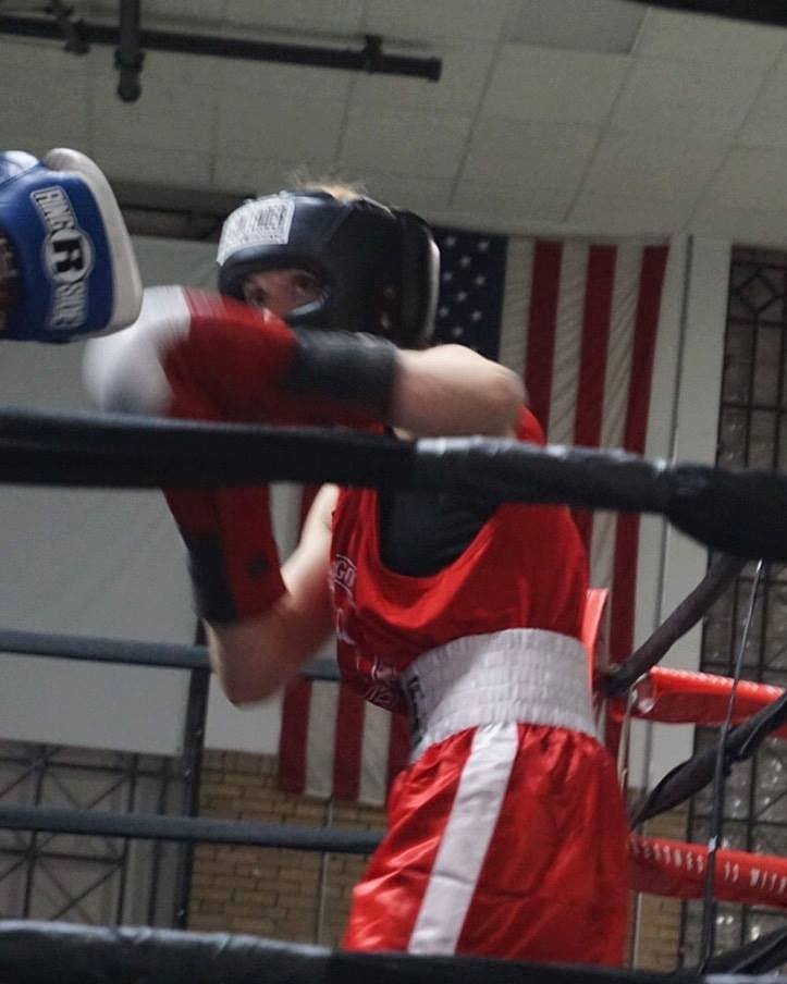 KMI boxing student sparring