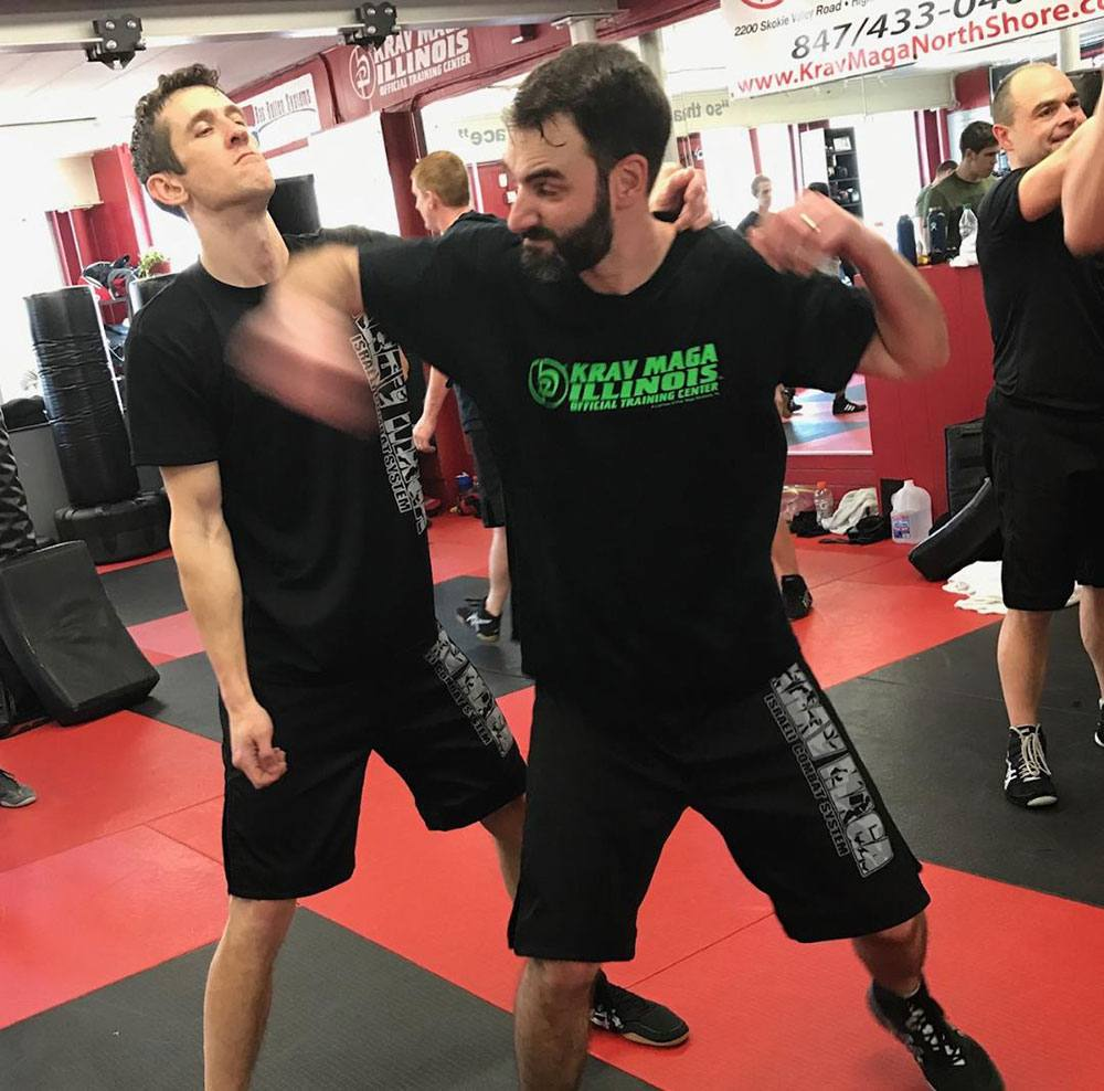 adult krav maga students training